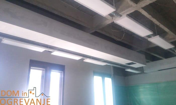 industrijsko ogrevanje na stropu za večje prostore