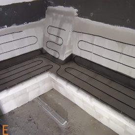 Ogrevana klo v savni z grelnim kablom