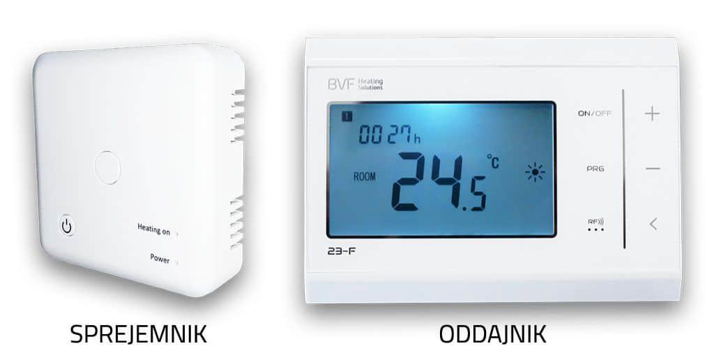 sprejemnik in oddajnik termostata